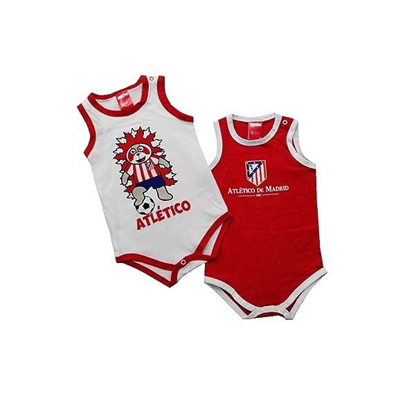 Atlético de Madrid Pack 2 Bodys Tirantes para Bebés