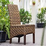 International Caravan SG-3308-1CH-IC Furniture Piece Manila Abaca/Rattan Wicker Dining Chair
