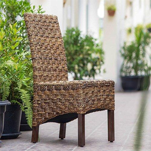 International Caravan SG-3308-1CH-IC Furniture Piece Manila Abaca/Rattan Wicker Dining Chair by International Caravan