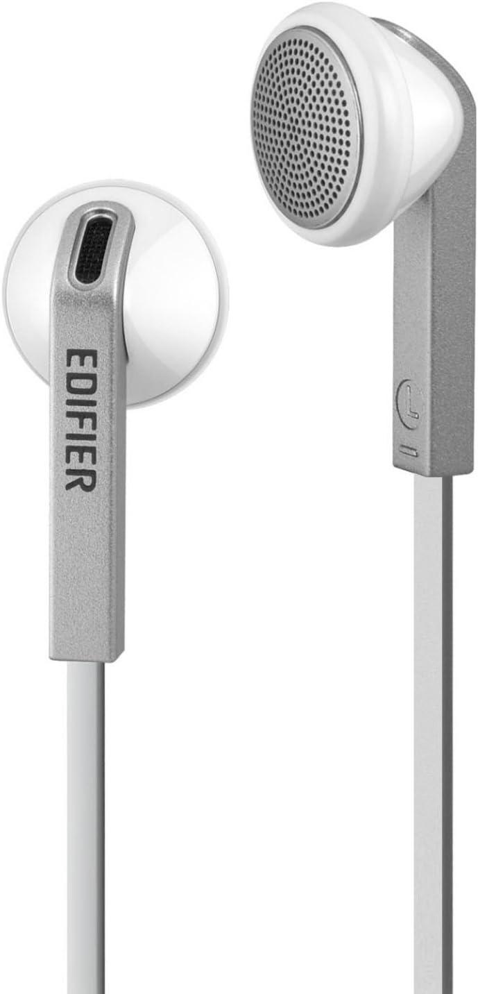 Azul con Micr/ófono Edifier H185 Cascos Auriculares Hi-Fi de Estilo Cl/ásico de Bot/ón