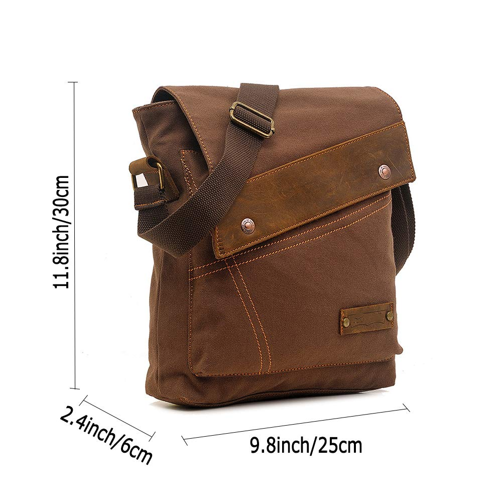 Business Shoulder Bag Briefcase Waterproof Multi-Pocket,Green ALTINOVO Outdoor Travel Messenger Bag for Men