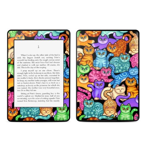 Colorful Kittens Design Protective Decal Skin Sticker for Amazon Kindle Paperwhite eBook Reader (2-point (Skin Colorful Kittens)