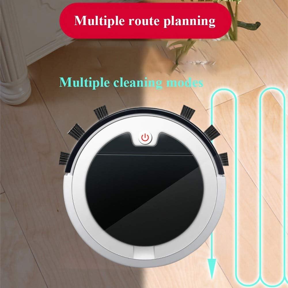 MRMRMNR Aspirateur Robot 3 en 1, Améliorer Aspirateur Autonome Maison Intelligente, Capteur Intelligent, Planification D\'itinéraire, Stérilisation UV, 2800PA/2000mAh/90min A