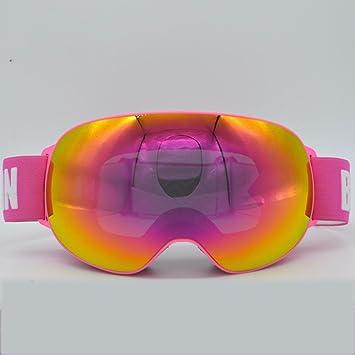 KHSKX Polarizado gafas de esquí de nieve exterior grande doble Gafas antivaho Cocker myopiaC