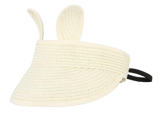 Lukis Chapeau de Paille Visière Enfant Anti-UV Soleil Casquette Pliable pour  Eté Outdoor Plage aade6fc0173