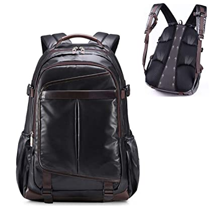 Amazon.com: OURBAG Laptop Backpack, Men PU