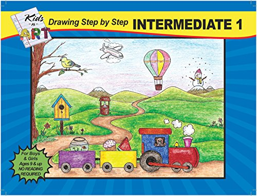 Step By Step Drawing Book For Kids - How to Draw with Simple Steps & Easy to Follow Instructional Illustrations - For Kids Ages 9 & Up - Intermediate Volume 1