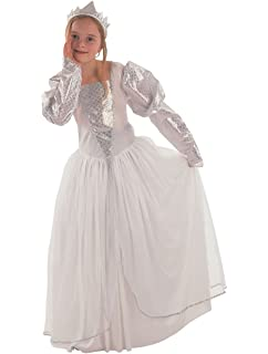 Childs White Princess Bride Fancy Dress Costume Small 110 122cms 3 4 Years