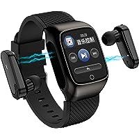 2-In-1 Smart Watch TWS Earbuds Fitness Tracker True Wireless Bluetooth 5.0 Headphones Pedometer Calorie Counter Activity…