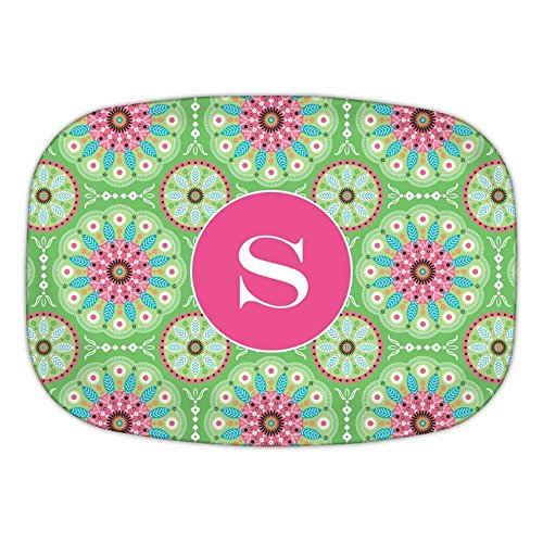 Chatsworth Boho Girls Melamine Platter with Single Initial, Z, Multicolored