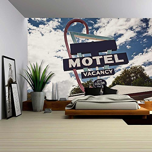 wall26-old-motel-sign-on-route-66-usa-removable-wall-mural-self-adhesive-large-wallpaper-100x144-inc