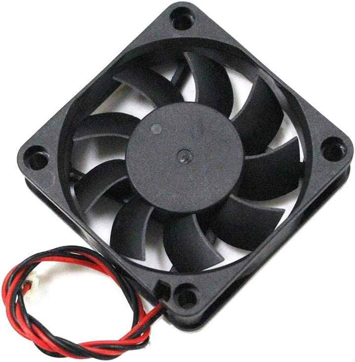 ILS 5 Pieces 12v 6015 606015mm Cooling Fan with Cable for 3D Printer Part