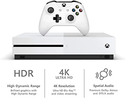 Microsoft Xbox One S 1 Tb Hard Drive Console (4 K Ultra Hd Blu Ray) With Wireless Controller And Game Bundle | Choose Minecraft 1 Tb 4 K Blu Ray Hdr by Xbox One