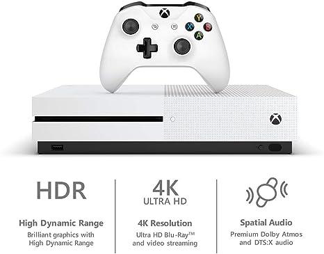 Amazon com: Microsoft Xbox One S 1TB Hard Drive Console (4K