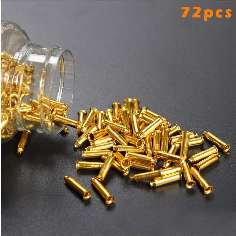 Confezione da 72 nippli per Raggi in Lega di Alluminio Gold Proglam