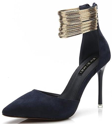 Easemax Damen Sexy Geschlossene Stilettos High Heels Sandalen Pumps