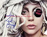 Lady Gaga Wild Hair Monocle Kiss Print Autographed Signed 11x14 Preprint Poster Photo