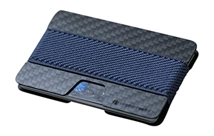 Elephant Wallet - Mini monedero, tarjetero, estilo minimalista, diversos colores negro Carbon - Navy