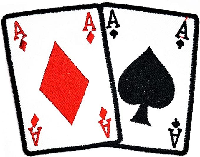 Casino Poker Ace of Spades Full House EMBROIDERED Iron on Sew on PATCH