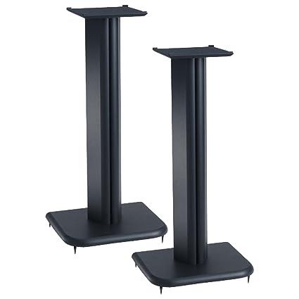Sanus NF24B Natural Foundations Series 24 Tall Medium Bookshelf Speaker Stands