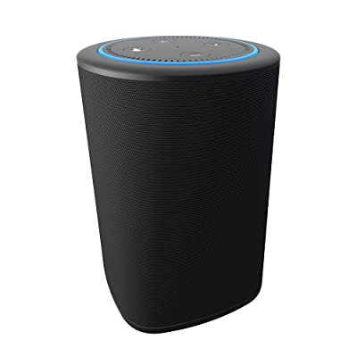 speakers in amazon. vaux cordless home speaker + portable battery for amazon echo dot gen 2 black/carbon speakers in o