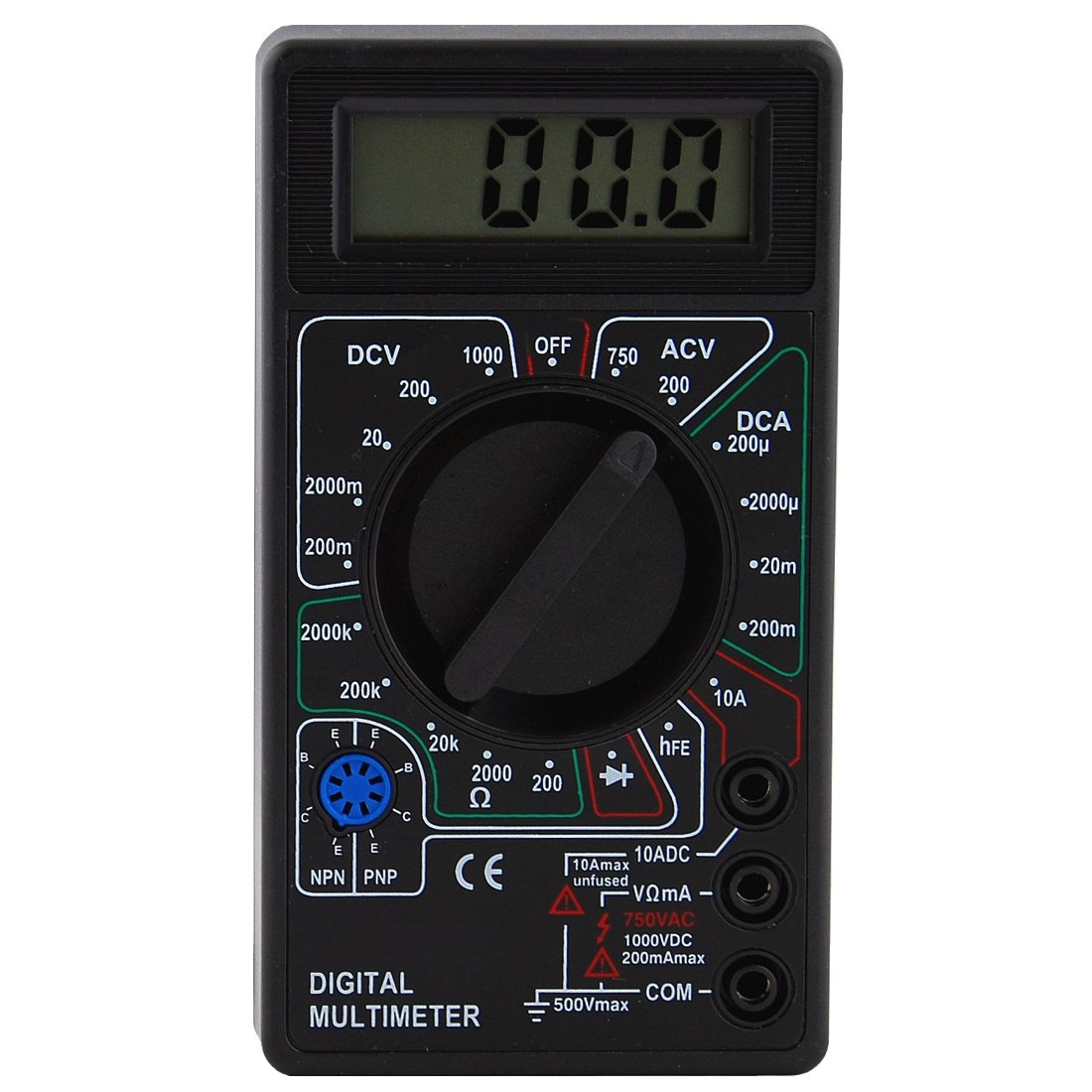 Check For Continuity Voltmeter : Best lcd digital voltmeter ohm multimeter dtl