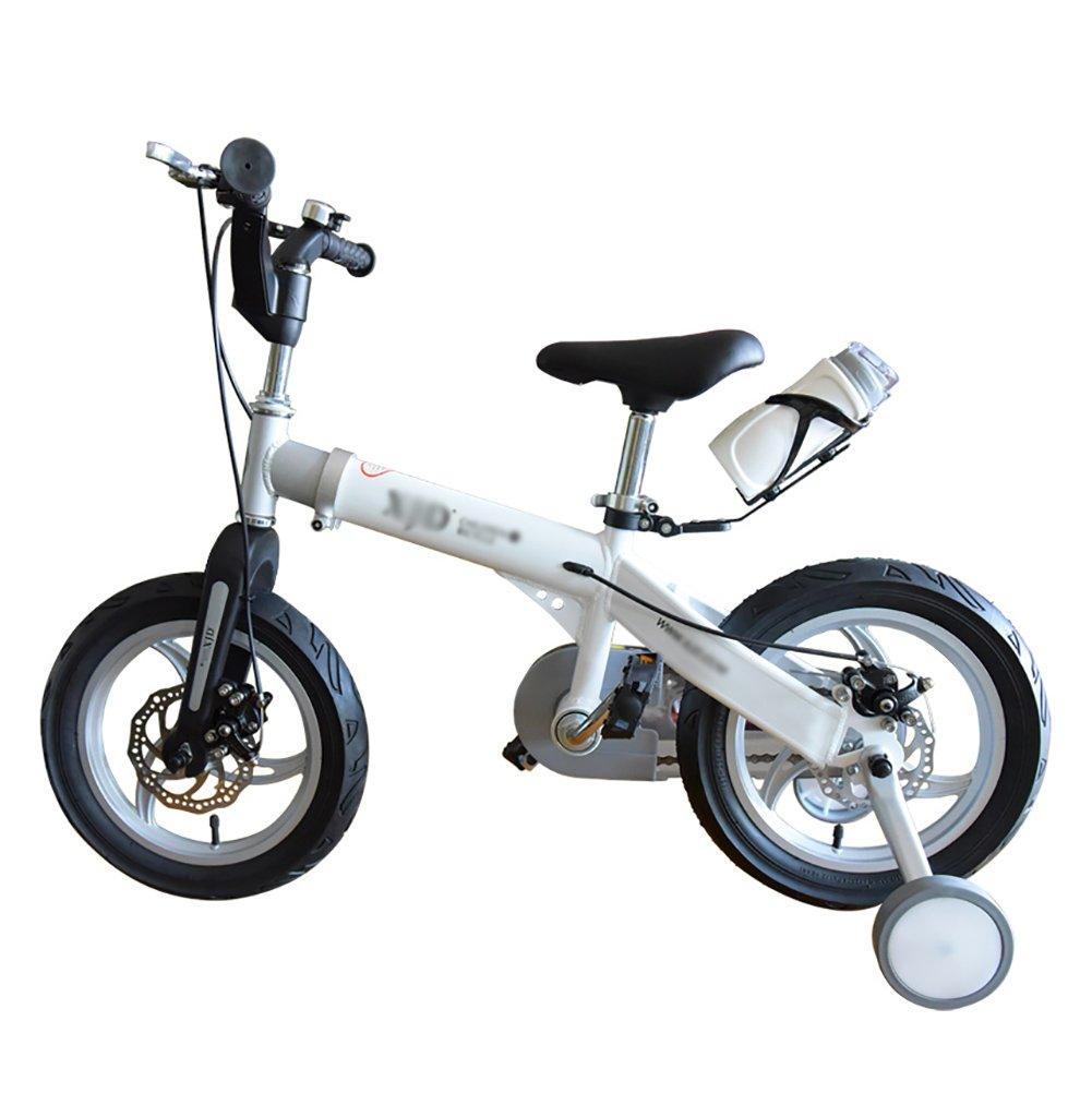 子供の自転車3-4-6-8歳の長さスケーラブルな男の子と女の子マウンテンベイビーキャリッジキッズバイク14 16インチホワイトイエローブルーピンク B07DXD395R 16 inch|白 白 16 inch