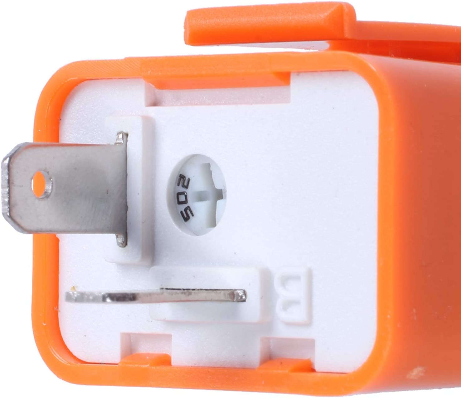 ACAMPTAR Flasher de 2 Pin para Coche Motocicleta Luz LED Indicador de Velocidad Ajustable Luz de Giro del rele Intermitente Naranja