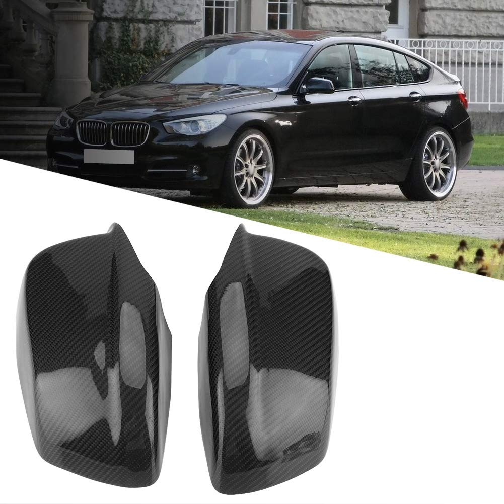 KIMISS 1 Pair of Carbon Fiber Rear View Mirror Cover for BMW 5 Series F10/F11/F18 Pre-LCI 11-13 by KIMISS (Image #2)