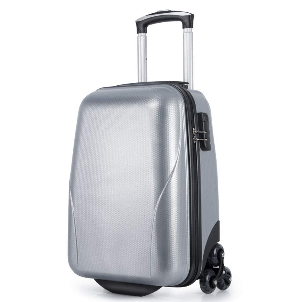 PCスーツケースカラフルなローリング荷物スピナーホイールで軽量持ち運びトラベルTSAロック女性の男性20インチ 18inch Gray B07LFGW2ST