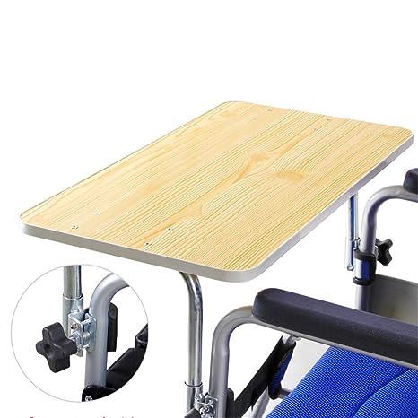 WLIXZ Mesa de Madera para Silla de Ruedas, para Personas Mayores con discapacidad Que comen