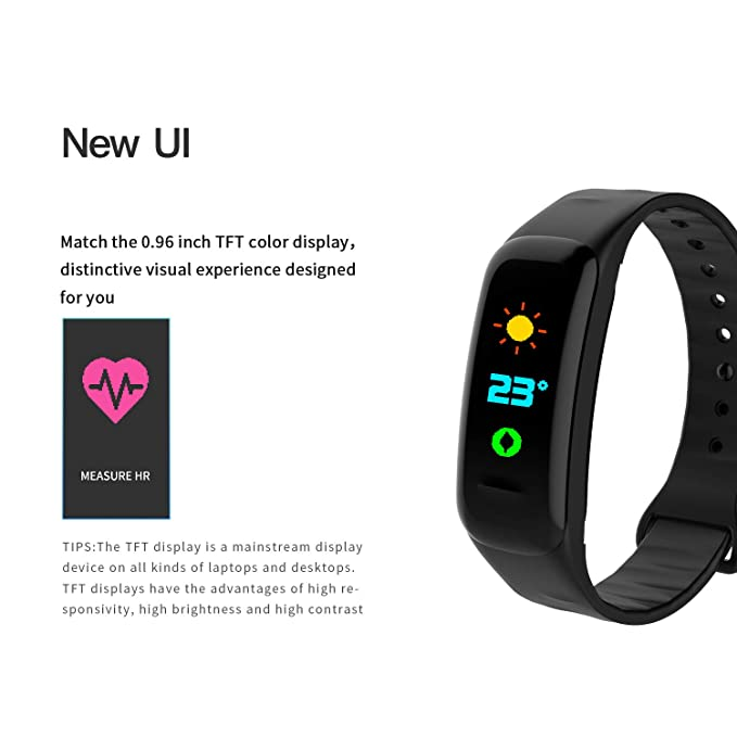 Amazon.com: Evin Fitness Tracker Smart Watch Activity Tracker Sport Band Waterproof Bluetooth Bracelet Heart Rate Monitor Pedometer Sleep Monitor Monitoring ...