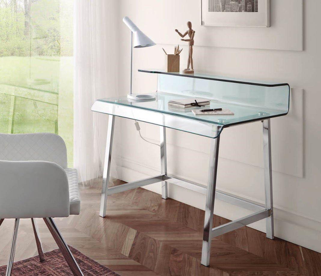 DUGARHOME - Escritorios Modernos - Mueble DK-903 Acero/Cristal ...