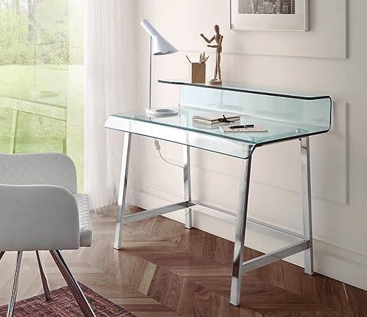 Dugarhome Escritorios Modernos Mueble Dk 903 Acero Cristal
