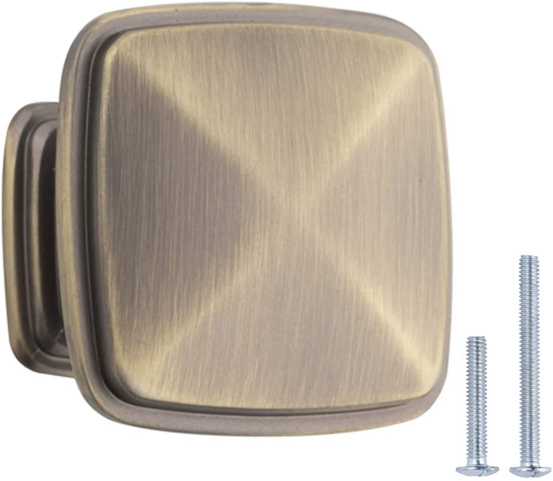 Basics Messing geb/ürstet AB400-BB-25 M/öbelkn/äufe Durchmesser 3,18/cm