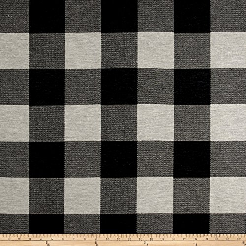 Fabric Artistry Buffalo Check Jacquard Black/White,