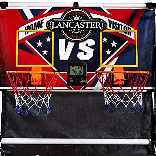 Lancaster 2 Player Junior Home Electronic Scoreboard Arcade Basketball Hoop Game ()