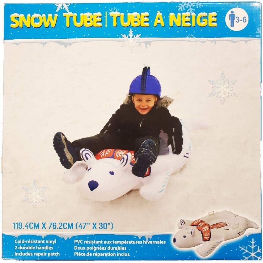 Inflatable Polar Bear Snow Sled