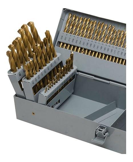 115pc Titanium Drill Bit Set w//Index Case Number Letter Fractional