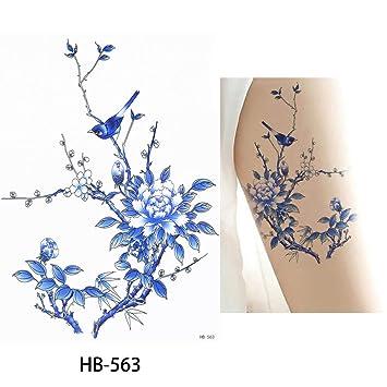 Amazon Com Flower Bird Decal 1pc Fake Women Men Diy Henna Body Art