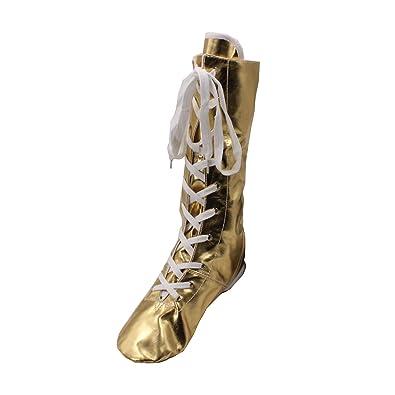 PU Women's Shinning Jazz Dancing Boots Gold/Silver