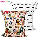 Wet Bags, Angel Love 2 Pack Baby Cloth Diaper Wet/Dry Bags with Two Zippered Pockets, Travel, Beach, Pool, Gym Bag for Swimsuits or Wet Clothes, Waterproof Washable Reusable, L2839