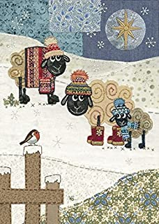 Artistic Christmas Cards Ba0052 Mice Stockings Pack Of 5 Cards