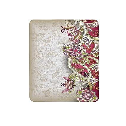 18069a067882 Amazon.com : Floral Non Slip Mouse Pad, Ethnic Asian Flower Petal ...
