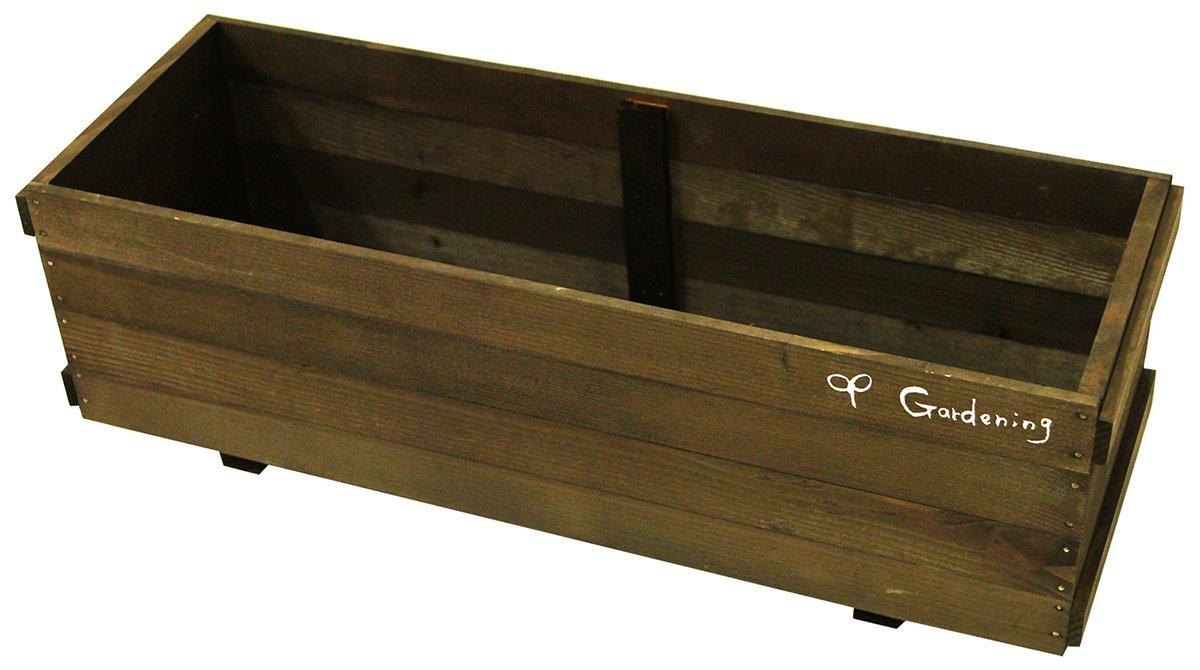 日本製 天然木プランターカバー 650型 ガーデニング ダーク