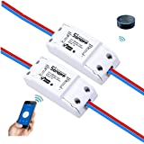 Sonoff Smart WIFI Switch Wireless Remote Control Timer ABS Module Universal Home Intelligent Center Socket Compatible with Alexa DIY Your Smart Home via iphone Android APP 2 Packs