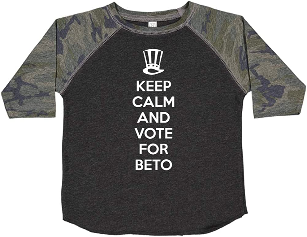 Mashed Clothing Keep Calm /& Vote for Beto Presidential Election 2020 Toddler//Kids Raglan T-Shirt
