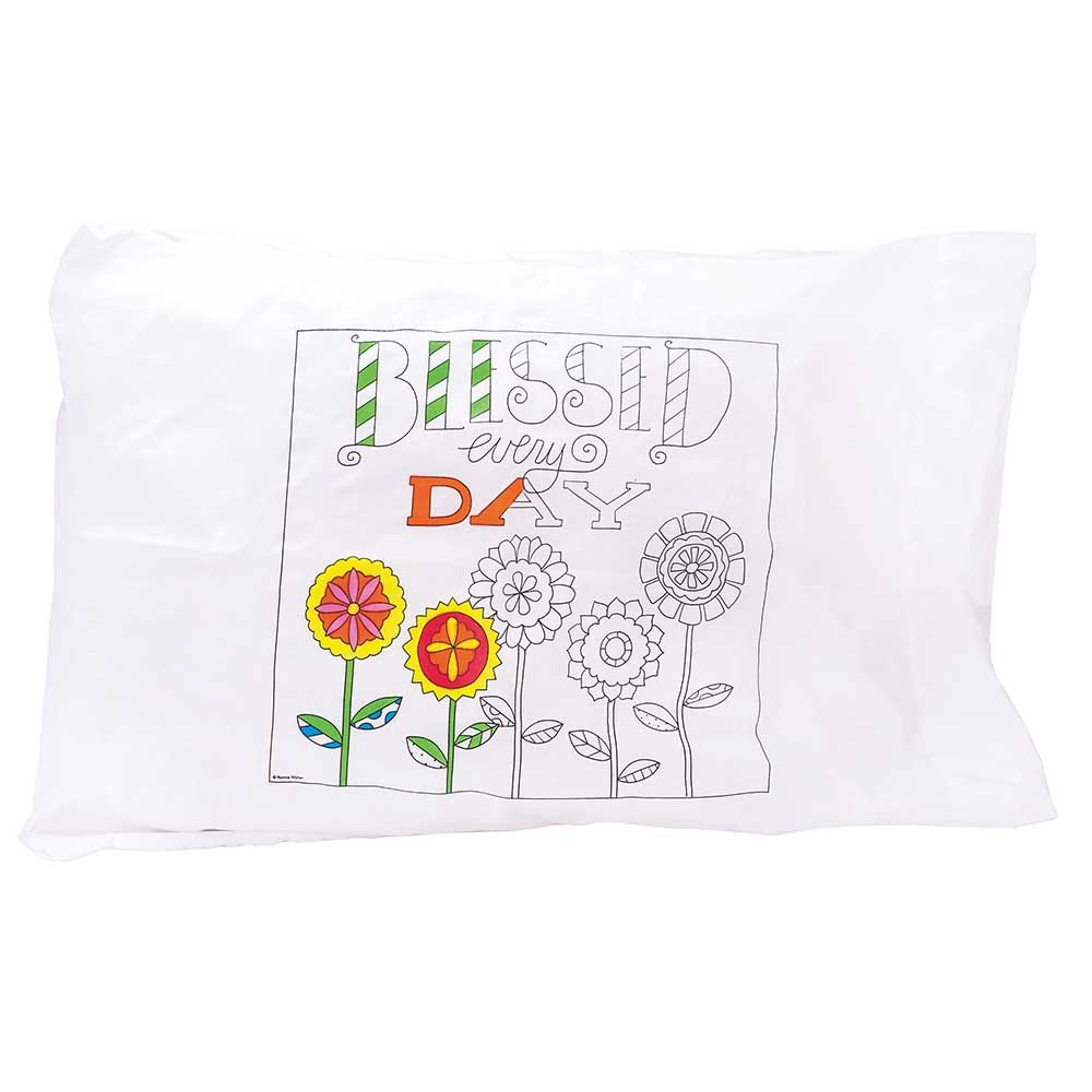 Dicksons Coloring Café Blessed Every Day Cotton Blend Individual Standard Size Bed Pillow Case