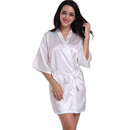5fa28503bd ... Hammia Womens Kimono Robes Satin Nightdress Bridesmaid Robes huge  discount b47a6 11cf4  Womens CathyS Concepts Monogram ...