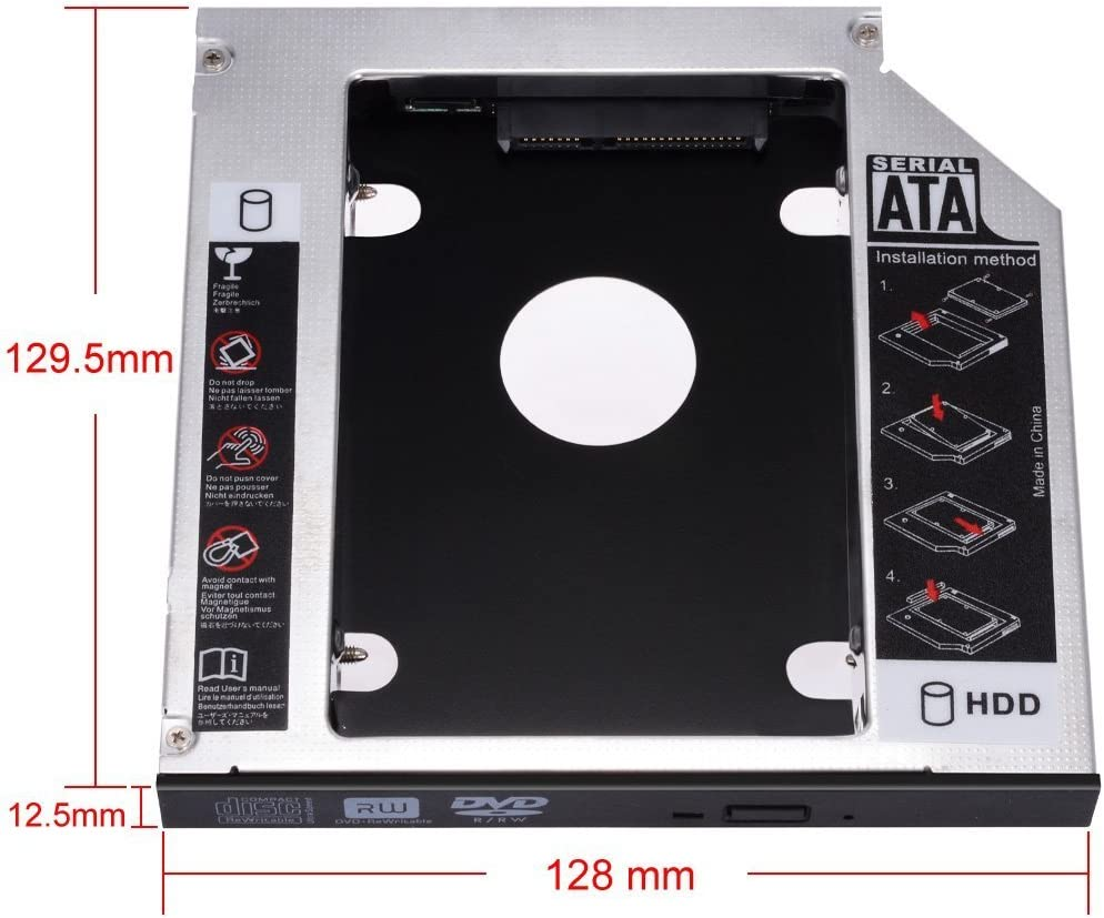 Zacro SATA HDD HD SATA Segundo 2.5 Disco Duro Caddy/Optical ...